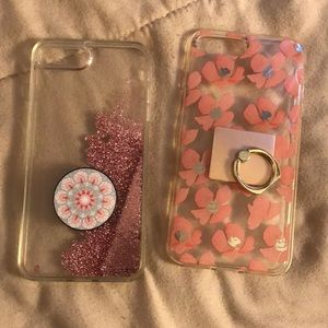 2 I Phone 6,7 or 8 Plus phone Case with pop socket